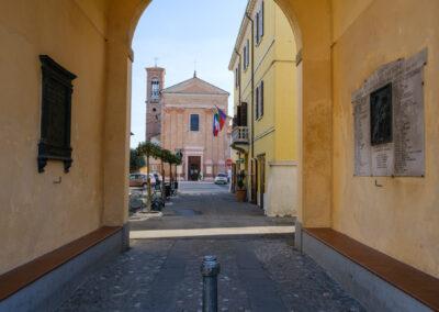 La memoria nel paesaggio, Lapide, Memoria, Sant'Agata sul Santerno, Torre orologio, Lapide caduti della prima e seconda guerra mondiale
