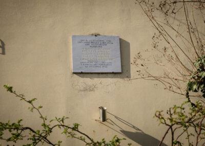 La memoria nel paesaggio, Lapide, Massa Lombarda, Lapide in memoria delle famiglie Foletti