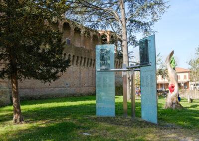 Bagnara di Romagna, La memoria nel paesaggio, Memoria, Monumento, Parco, Parco urbano, Monumento ai caduti Bagnaresi di tutte le guerre