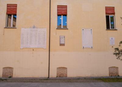 La memoria nel paesaggio, Lapide, Lugo, Rocca, Cippo in memoria dei Martiri del Senio